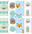 cute animals patterns vector image vector image