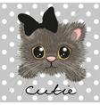 Cute British kitten vector image