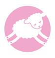 cute lamb character icon vector image vector image