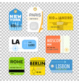 different boarding pass collection flat design vector image vector image