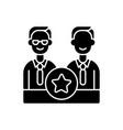 directorate black glyph icon vector image vector image