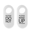 door hanger do not disturb and make up the vector image
