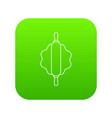 dough rolling pin icon green vector image vector image