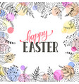 easter eggs composition vector image vector image