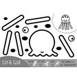 education paper game for children octopus vector image vector image