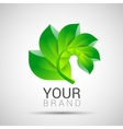 Environmental leaves branch logo eco vector image vector image