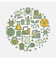 Environmental pollution round sign vector image