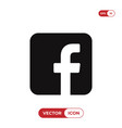 f letter icon facebook logo vector image