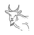 farming goat icon hand drawn icon set outline vector image