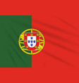 flag portugal swaying in wind realistic vector image