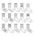 flat design socks set coloring book vector image