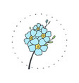forget me not flower logo for spa and beauty vector image vector image