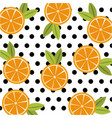 fruit citrus orange food polka dots seamless vector image