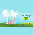 geothermal power plant vector image