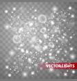 glow light effect sparkle dust vector image