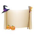 halloween scroll background vector image vector image