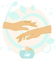 Hands With Cream vector image vector image