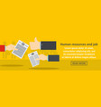 human resources and job banner horizontal concept vector image