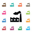 isolated factory icon industry element can vector image vector image