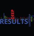 Leadership for deep results a new look at your