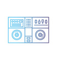 line stereo to play and listen to music vector image