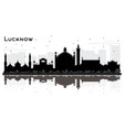 lucknow india city skyline silhouette with black vector image vector image