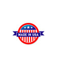 made in usa american flag ribbon icon vector image vector image