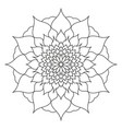 mandala of black color flower petals abstraction vector image