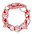Merry Christmas invitation wreath with holiday vector image vector image
