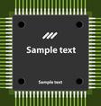 microchip vector image vector image