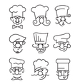 Mustachioed chefs set vector | Price: 1 Credit (USD $1)