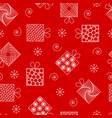 new year and christmas seamless pattern gifts in vector image
