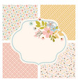 pattern postcard maker floral flower seamless set vector image