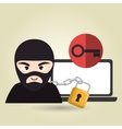 pc hacker safe design vector image vector image