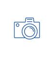photo camera sign line icon concept photo camera vector image vector image