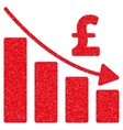 Pound Recession Bar Chart Grainy Texture Icon vector image