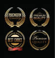 premium quality golden laurel wreath collection vector image