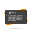 Quotation mark speech bubble Empty quote blank vector image vector image