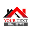 real estate roof home logo vector image