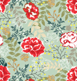Retro floral seamless backgroundpattern vector image vector image