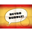 Retro speech bubble on aged halftone card vector image