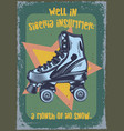 roller-skaters on vintage background vector image