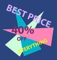 sale banner design vector image vector image