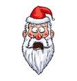 Santa Claus Shocked Head vector image vector image