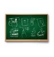 set education symbol objects vector image