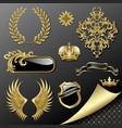 set heraldic elements vector image vector image