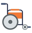 Side view of empty wheelchair vector image vector image