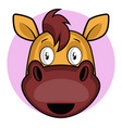 simple cartoon horse on white background vector image