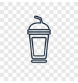 soft drink concept linear icon isolated on vector image vector image