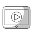 tablet with player button vector image vector image